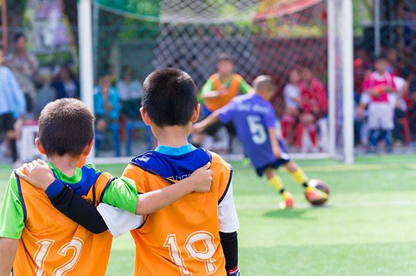 partido de futbol infantil